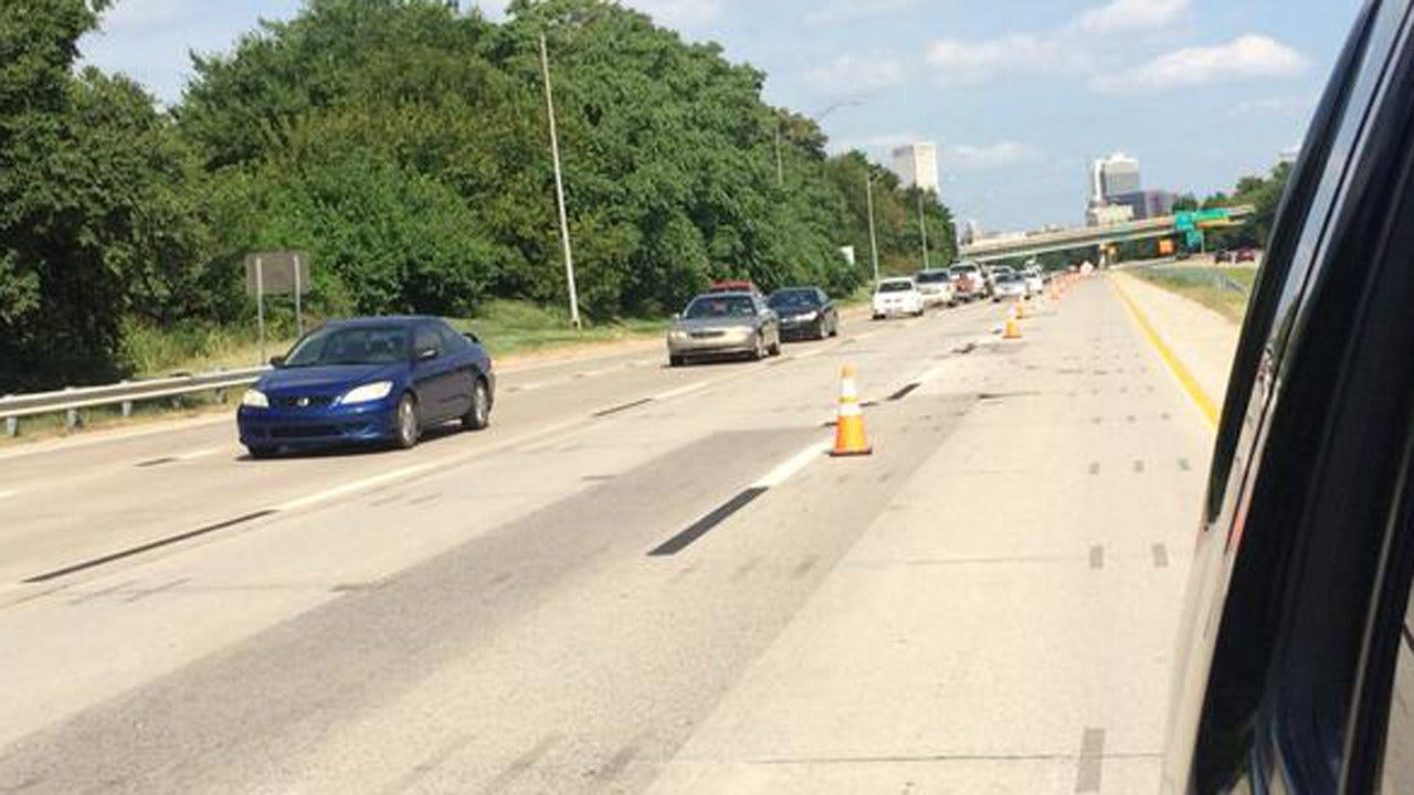 Damaged Pavement Closes Two Lanes Of Highway 412 Near Downtown