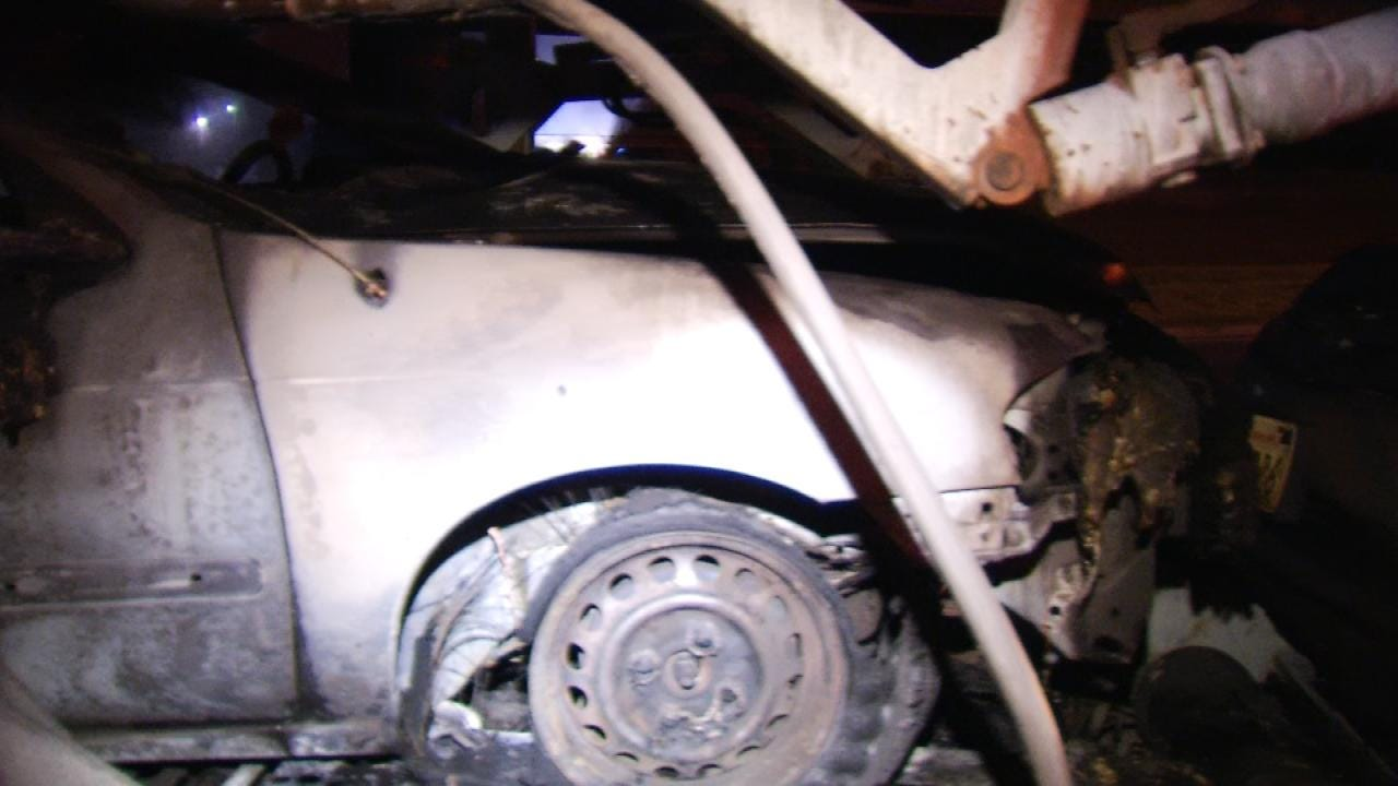 Truck Hauling Cars Catches Fire Twice On Tulsa Highway