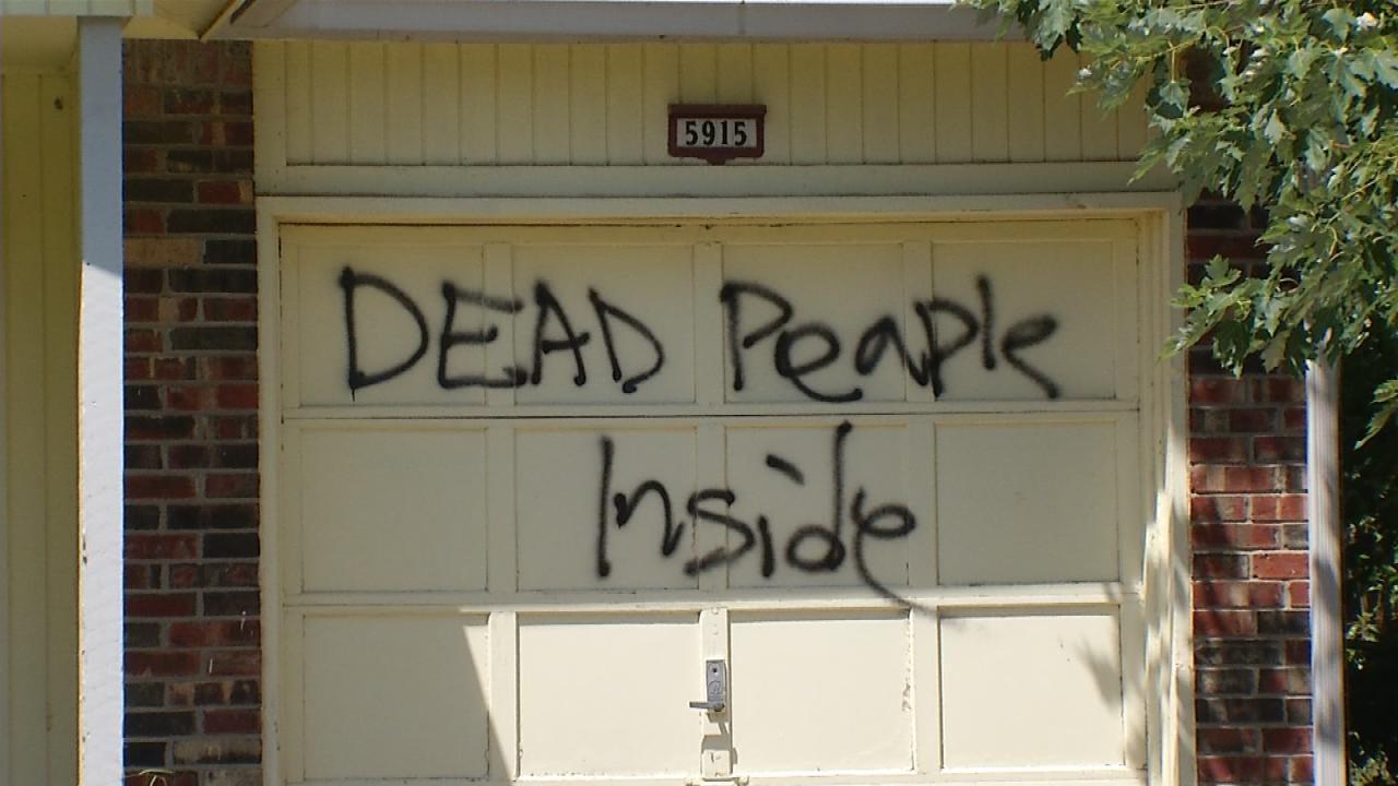 Police Investigate Vandalism In Tulsa Neighborhood