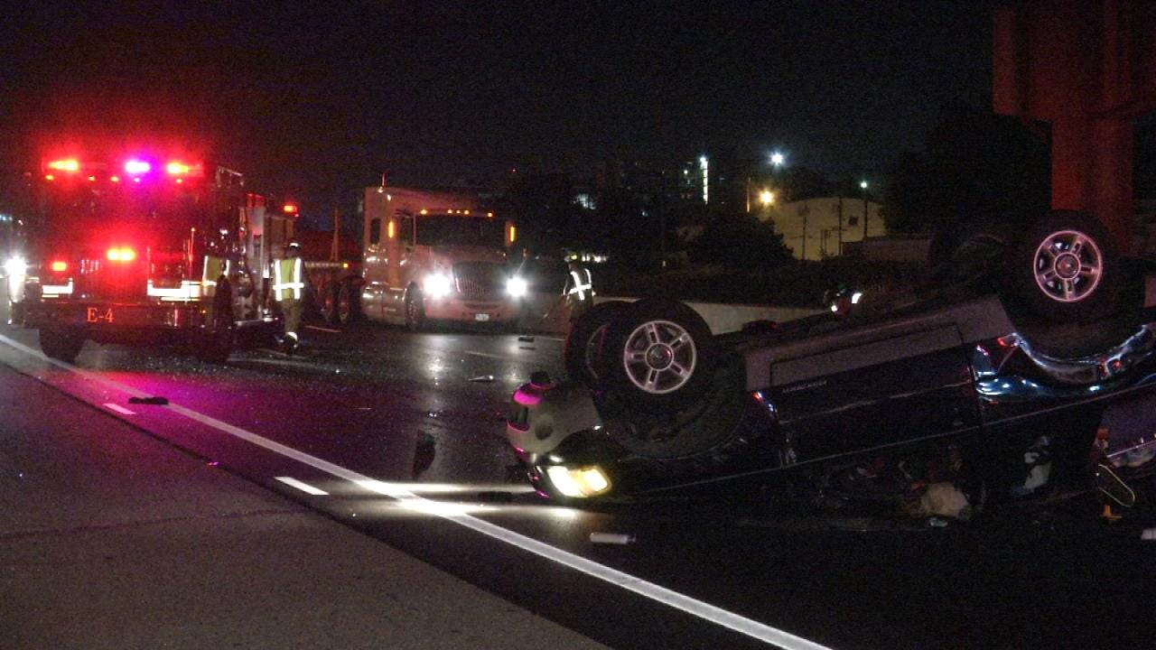 Two Injured In Tulsa Rollover Wreck