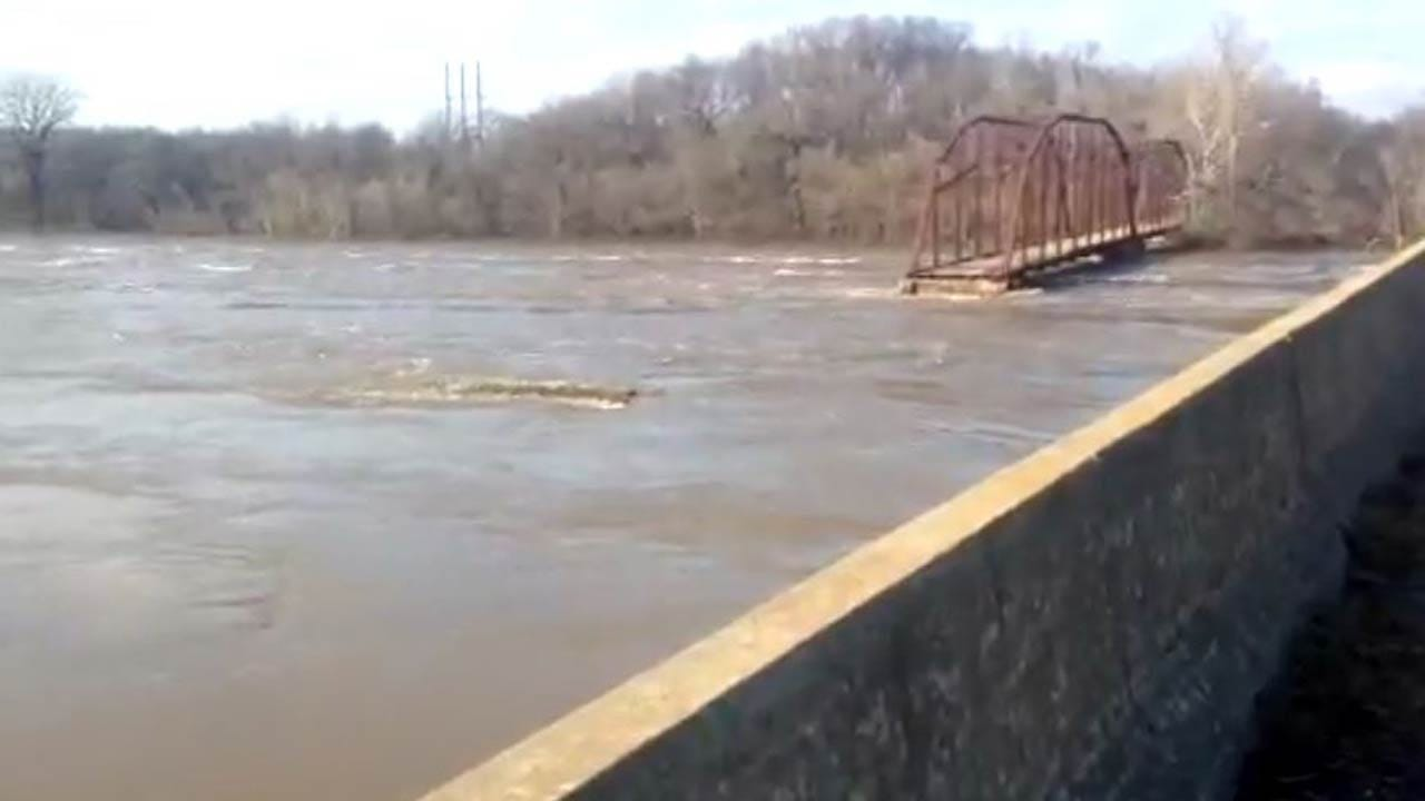 Flooding Wipes Out Part Of Iconic Mayes County Bridge