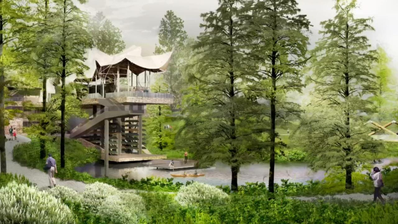Gathering Place Construction Moves Closer To Arkansas River