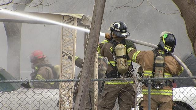 Woman Dies After Catoosa Firefighters Pull Her From Burning House