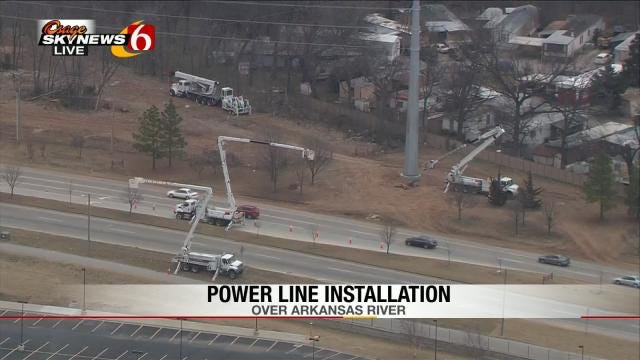 PSO Moving High-Voltage Lines Near Tulsa's River Spirit Casino