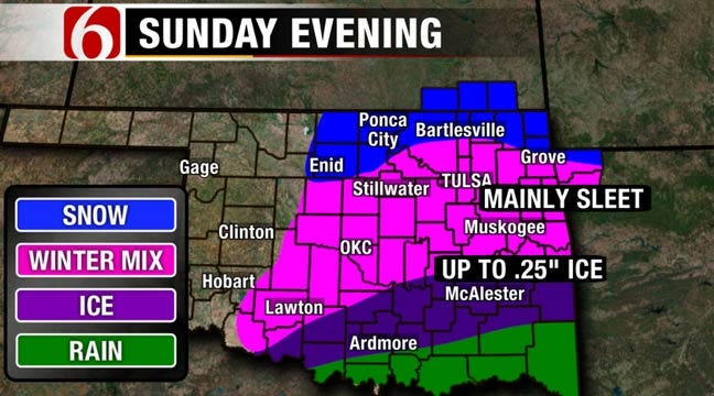 Winter Weather Advisory Issued For Eastern Oklahoma