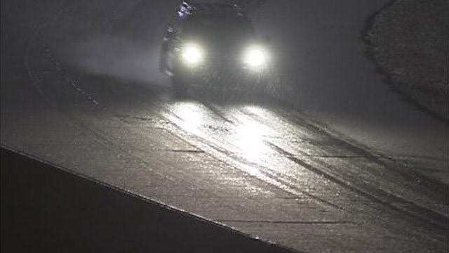Travelers Try To Beat Sleet, Snow Across Green Country