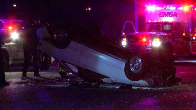 Tulsa Police Suspect Alcohol Use In Rollover Wreck