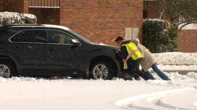 Claremore Digging Out Of President's Day Snow
