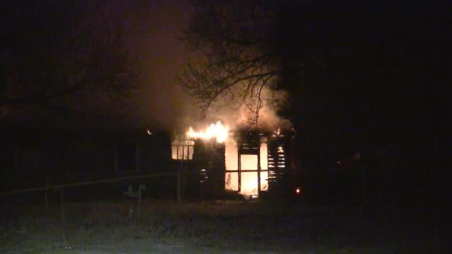 Fire Destroys Vacant Tulsa Home