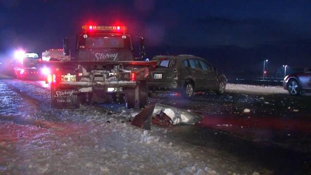 Police: Icy Roads Result In Several Crashes Across The Tulsa Area