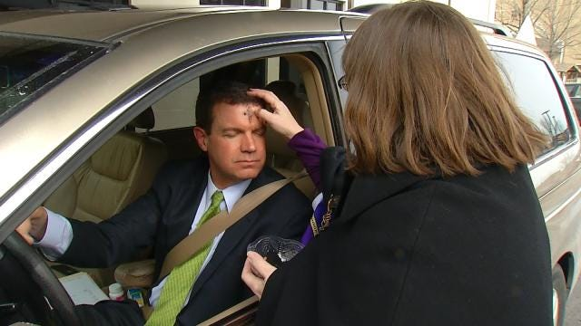 'Drive-Thru Ashes' Offered On First Day Of Lent For Busy Tulsans