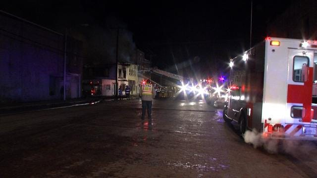 Fire Destroys Three Downtown Buildings In Barnsdall
