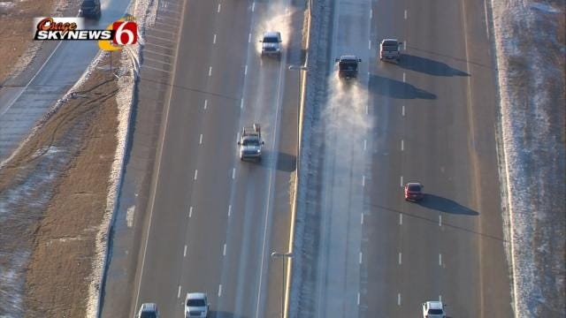 Tulsa Area Roads And Highways Still Slick In Spots