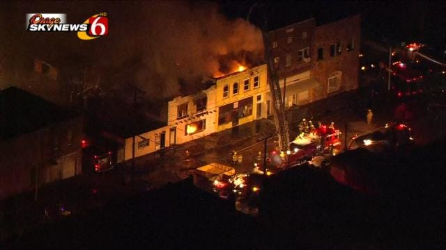 Cleanup Begins After Fire Burns Downtown Barnsdall Buildings