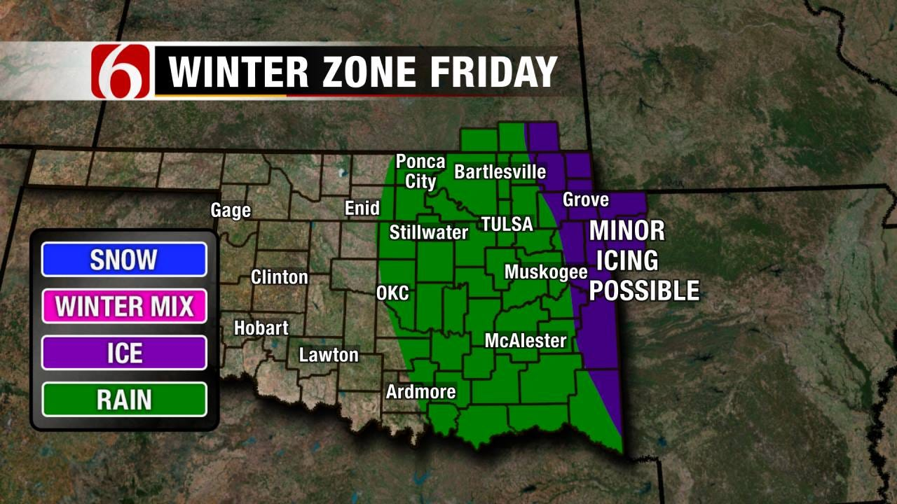 Freezing Drizzle Possible For Northeast Oklahoma