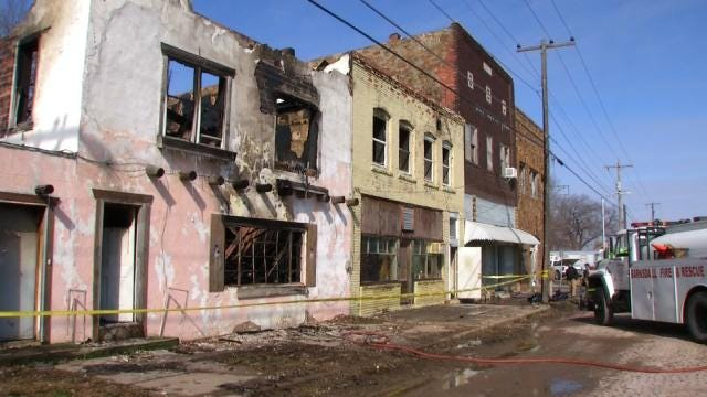 Historic Building, Classic Cars Saved From Devastating Barnsdall Fire