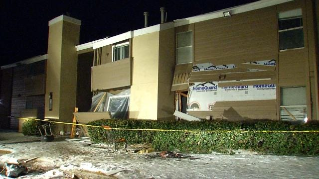 Investigation Into Explosion At East Tulsa Apartment Complex Continues