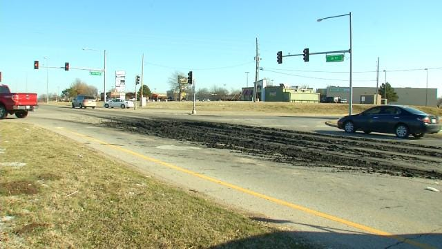 Police: Treated Waste Spilled At Sand Springs Intersection