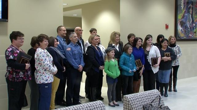 Everyday Heroes Honored For Saving Jenks Girl's Life