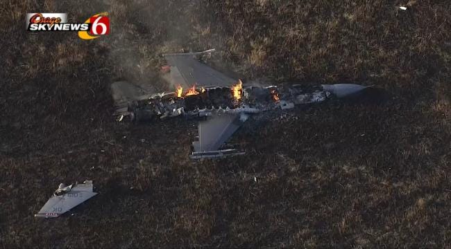 Pilots Blamed For Tulsa F-16 Crash In Kansas
