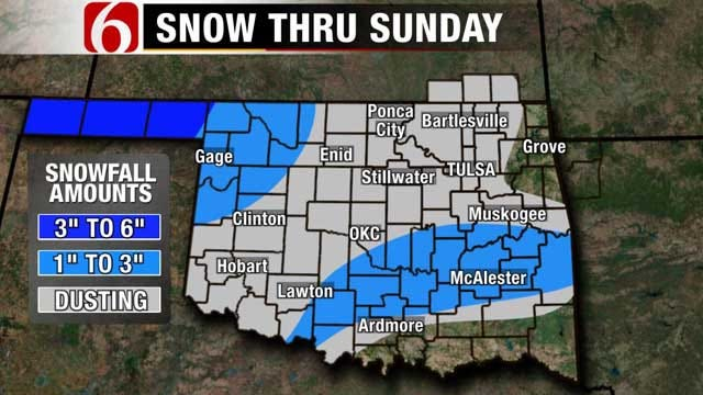 Another Cold Spell, Snow For Green Country