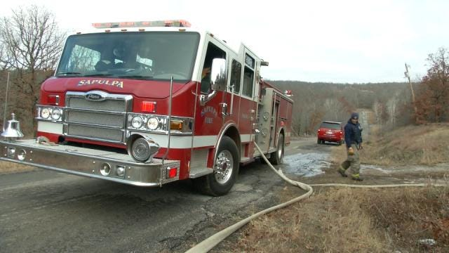 Sapulpa Firefighters Put Out Trailer Fire In Rural Creek County