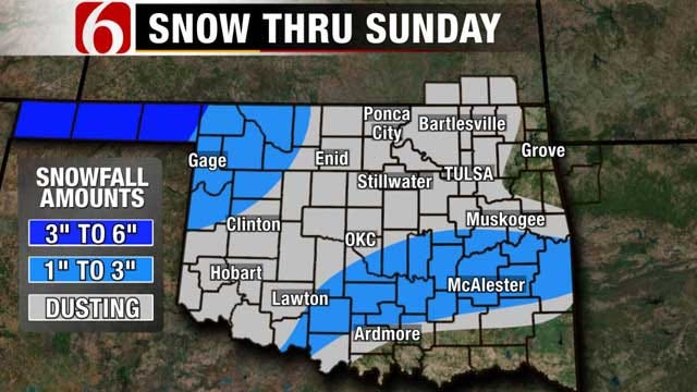 Wintry Week Ahead Starting with Sunday