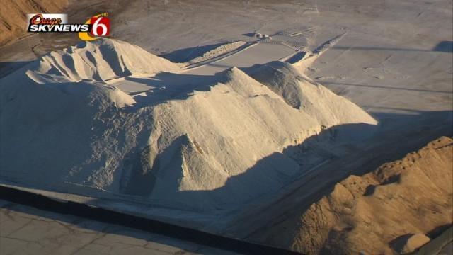 City, State Sand Trucks Treating Tulsa-Area Roads