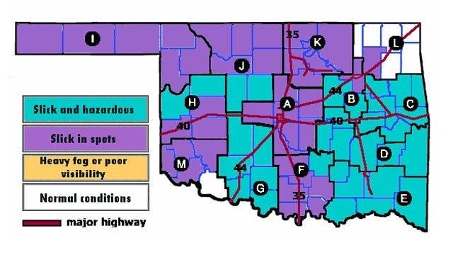 ODOT: Oklahoma Roads Remain Slick Tuesday Morning