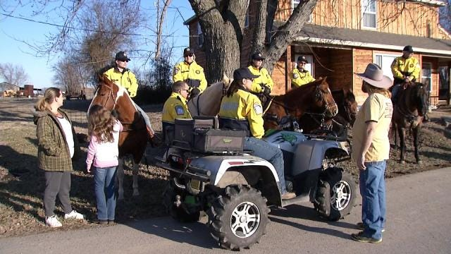 Rogers County Mounted Patrol Finds Missing Veteran In Woods