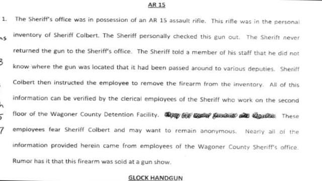 Allegations Against Wagoner County Sheriff Prompt DA To Ask For Investigation