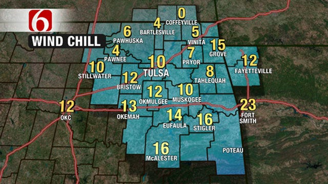 Cold & Windy Across Eastern Oklahoma