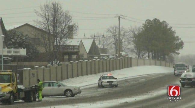 EMSA Responds To Dozens Of Wrecks On Slick Streets Around Tulsa