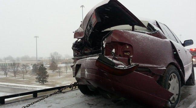 Disabled Car Causes 4-Vehicle Tulsa Crash