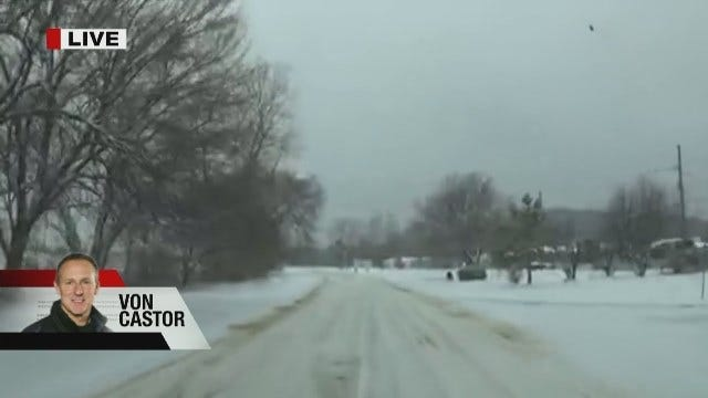 Sand Springs Police Department Gives Road Conditions Update Sunday