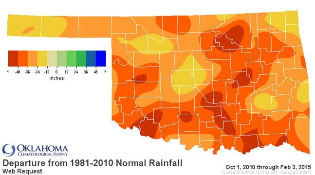 Dick Faurot's Weather Blog: Moisture Deficit Over The Last 4-Plus Years