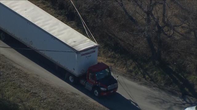 Truck Pulls Down Power Lines, Breaks Poles In Sapulpa