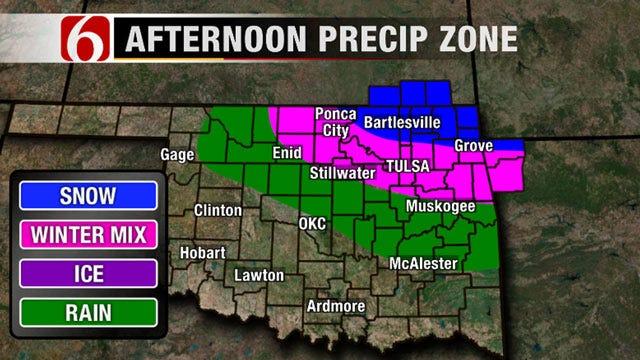 Colder Air, Snow Flurries Returning To Northeast Oklahoma