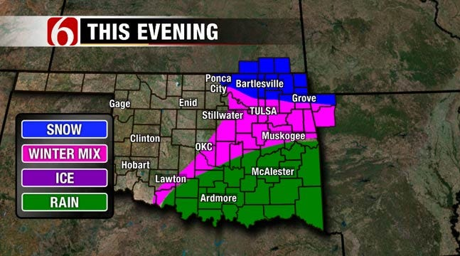 Several Oklahoma Counties Under Winter Weather Advisory