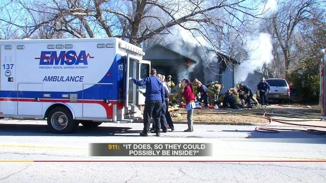 Neighbor's 911 Call Leads To Rescue Of Family From Tulsa House Fire