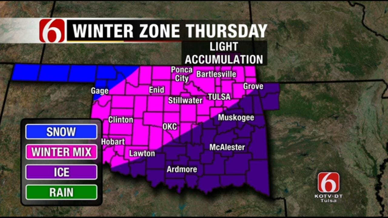New Year's Day Winter Weather Advisory Issued For Green Country