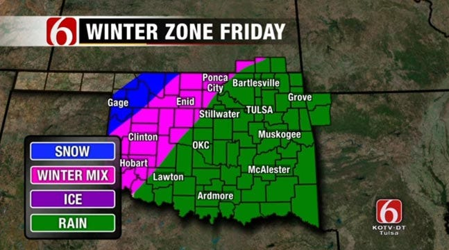 Second Round Of Winter Weather Heads To Northeast Oklahoma