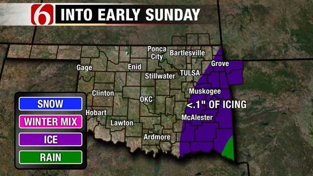 Chance Of Wintry Mix, Snow In Green Country Forecast