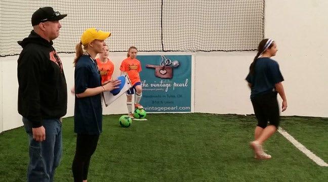 Garth Brooks Takes Time For Soccer In Jenks