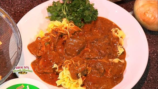 Beef Stroganoff With Egg Noodles