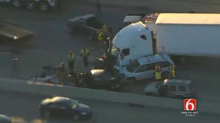 Semi Crash Backs Up Traffic On Highway 169