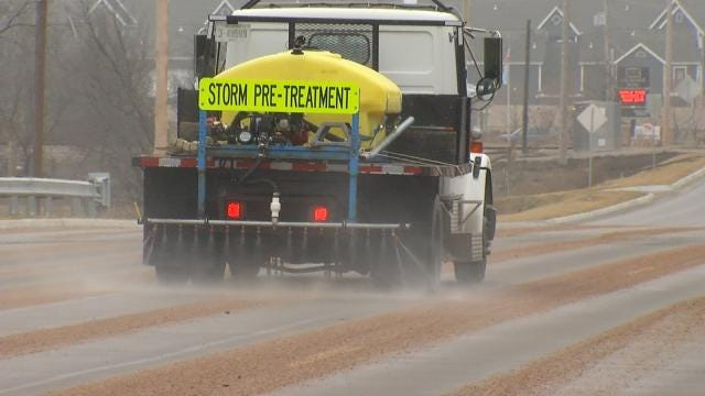 Pre-Treating Roads Becoming More Common In Oklahoma Communities
