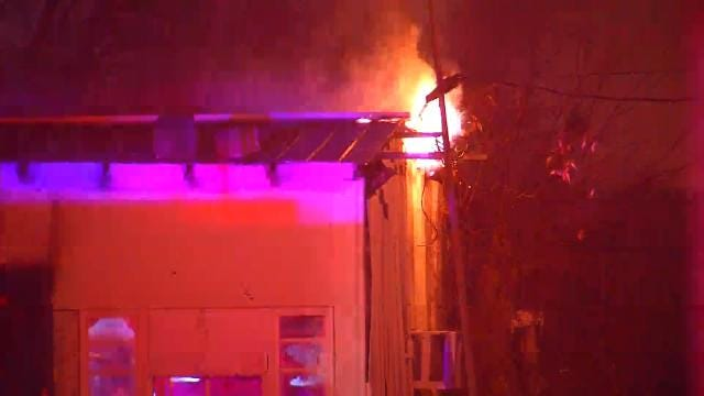 Tulsa Building Damaged By Fire