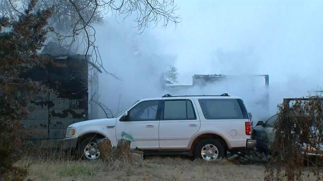 Fire Destroys Rural Creek County Home