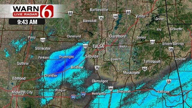 Rain And Some Snow Moves Out Of Oklahoma